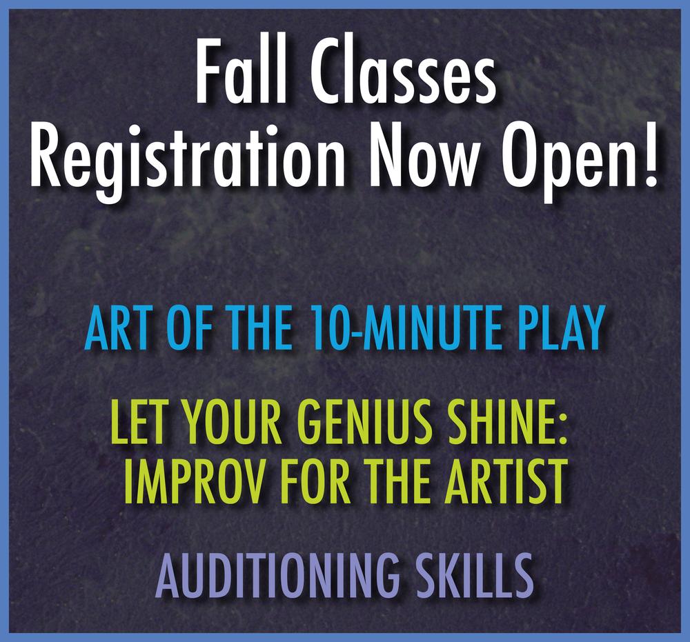 Class Registration is Now Open